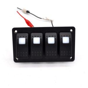 Aluminium 4 Switch Panel