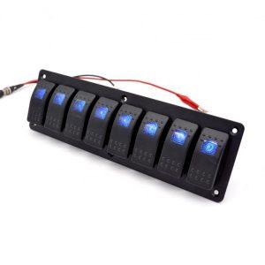 Aluminium 8 Switch Panel